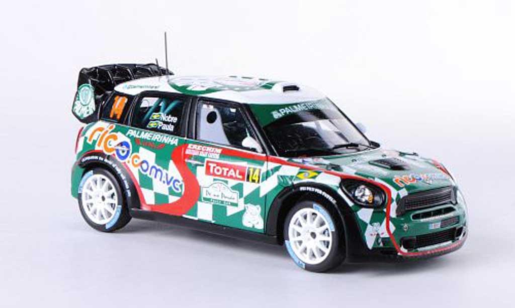 Mini Cooper WRC 1/43 Spark Works No.14 Palmerinha Rallye  Monte Carlo 2012 P.Nobre/E.Paula miniature
