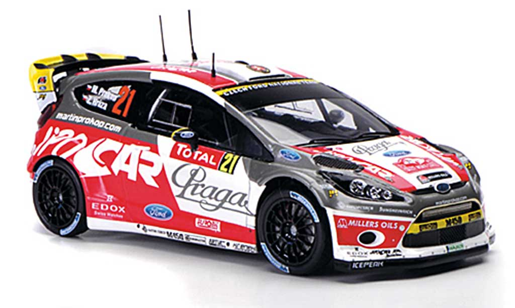 Ford Fiesta WRC 1/43 Spark No.21 Praga/Jipo Cars Rally Monte Carlo 2012 miniature
