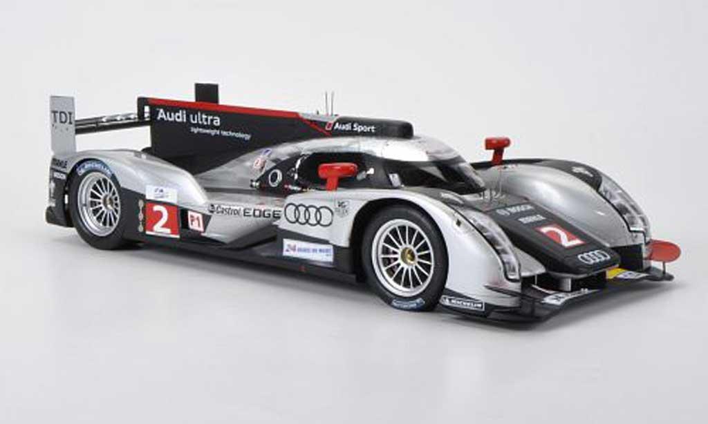 Audi R18 2011 1/18 Spark 2011 TDI No.2 ultra 24h Le Mans M.Faessler/A.Lotterer/B.Treluyer miniature