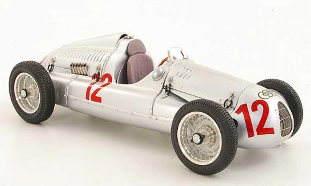 Auto Union Typ D 1/18 CMC No.12 H.P.Muller GP Frankreich 1939 miniature