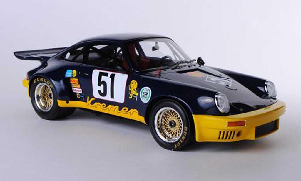 Porsche 930 RSR 1/18 Spark 3.0 No.51 Kremer Racing B.Wollek 1975 miniature