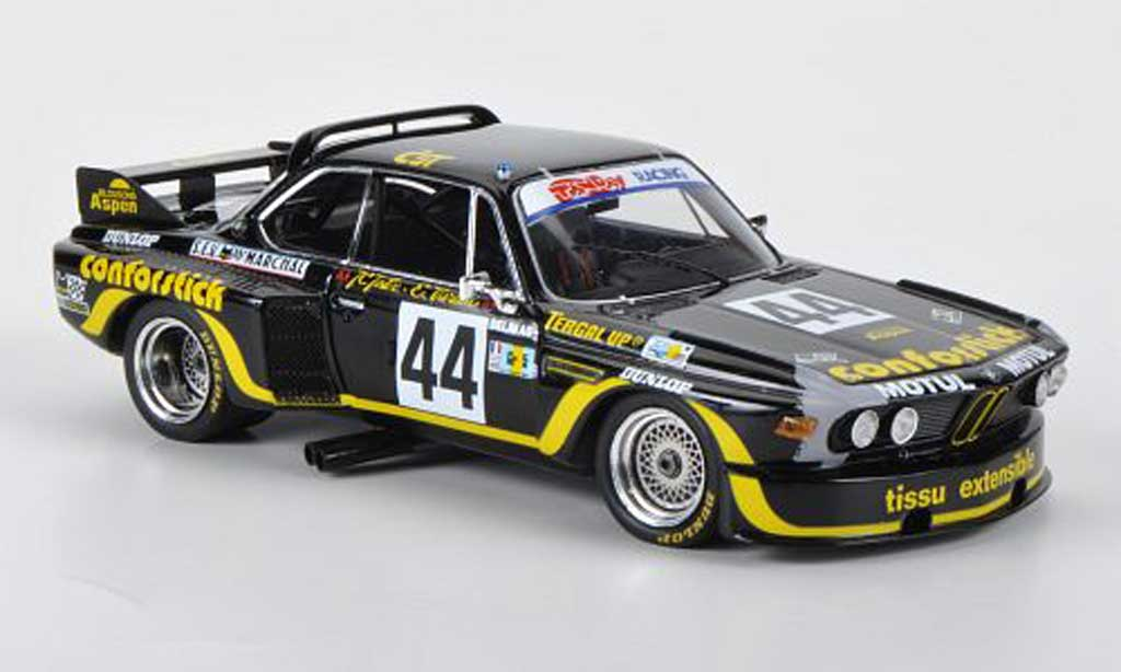 bmw 3 5 csl miniature conforstick j c justice j belin 24h le mans 1976 spark 1 43. Black Bedroom Furniture Sets. Home Design Ideas