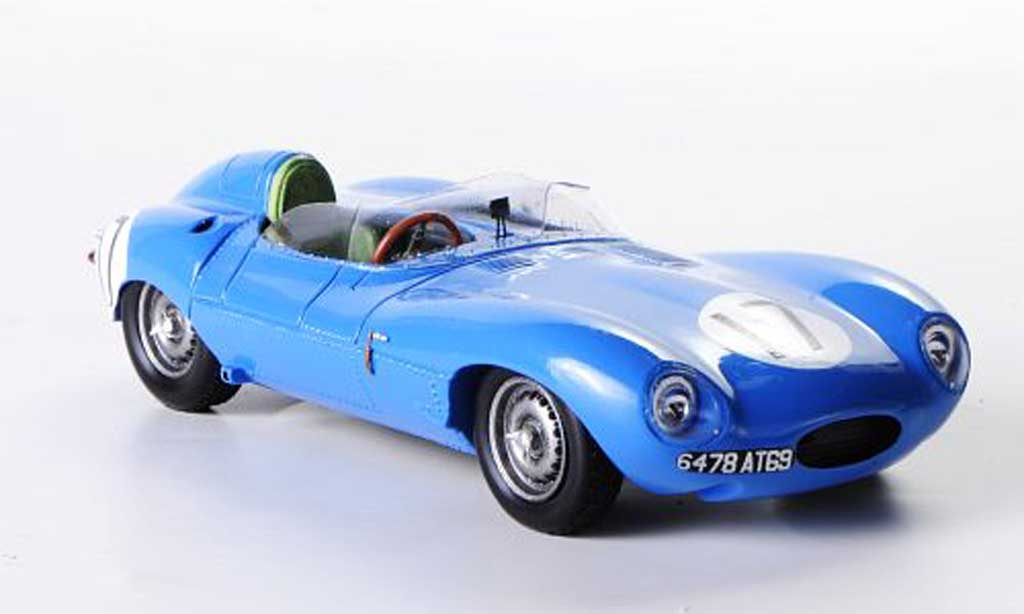 Jaguar D-Type 1957 1/43 Spark 1957 No.17 J.Lucas / Mary 24h Le Mans miniature