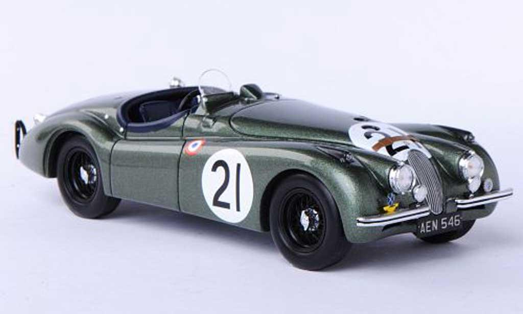 Jaguar XK 120 1/43 Spark No.21 R.Lawrie / I.Waller 24h Le Mans 1951 miniature