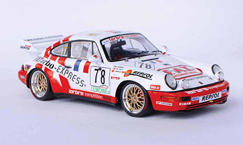 Porsche 964 1/43 Spark Carrera R No.78 F.A.T. J.Leconte / P.de Thoisy / J.Pareja 24h Le Mans 1993 miniature