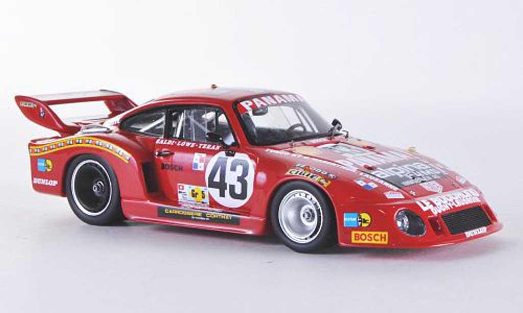 Porsche 935 1979 1/43 Spark No.43 Panama 24h Le Mans C.Haldi/R.Teran/H.Loewe miniature