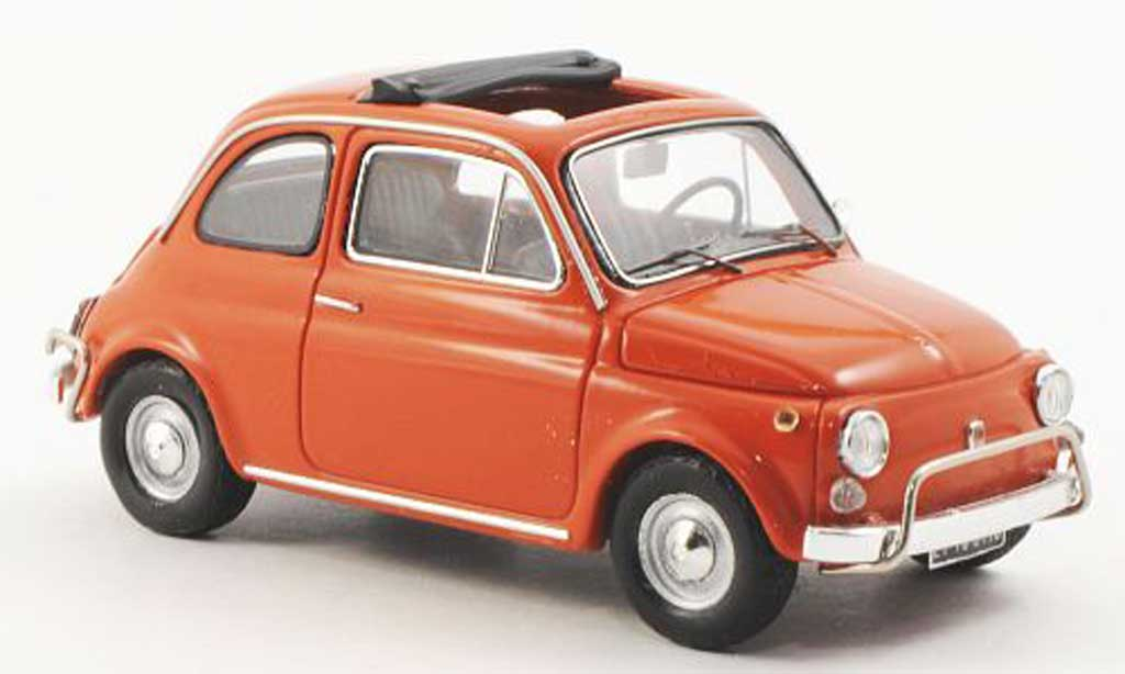 fiat 500 l miniature orange 1968 spark 1 43 voiture. Black Bedroom Furniture Sets. Home Design Ideas