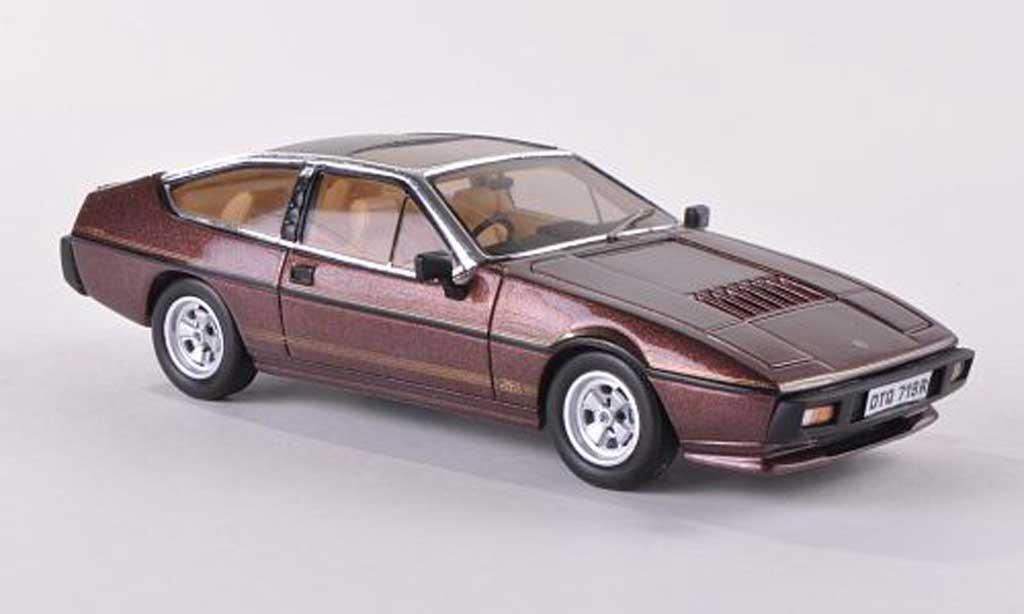 Lotus Eclat 1/43 Spark S2  marron 1980 miniature