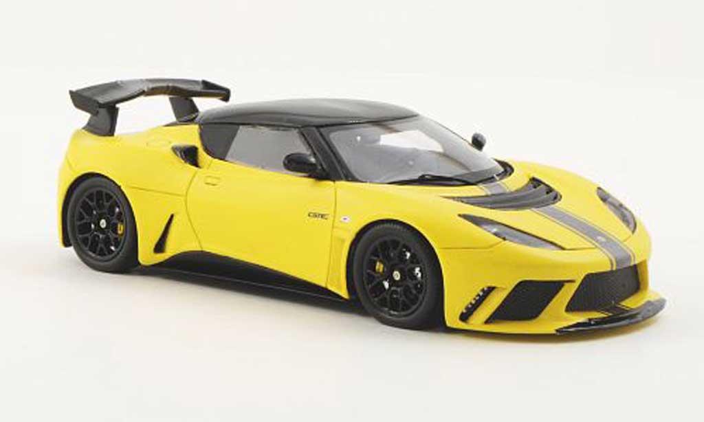 Lotus Evora GTE 1/43 Spark gelb/grau/carbon LHD 2011 modellautos