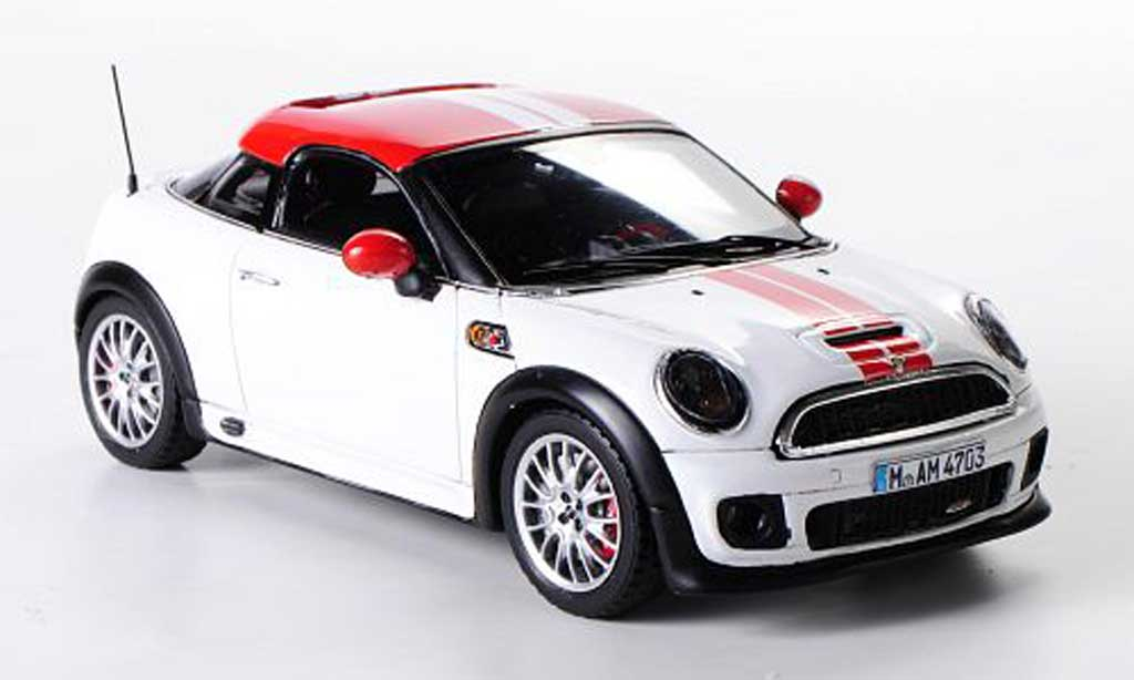 mini coup jcw mini john cooper works coupe white red 2012. Black Bedroom Furniture Sets. Home Design Ideas