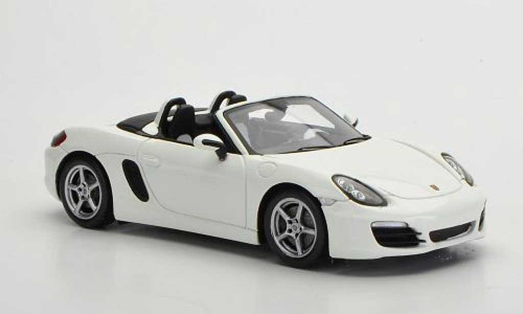 Porsche Boxster 1/43 Spark S (981) blanche 2012 miniature