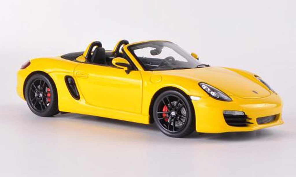 Porsche Boxster 1/43 Spark S (981) jaune 2012 miniature