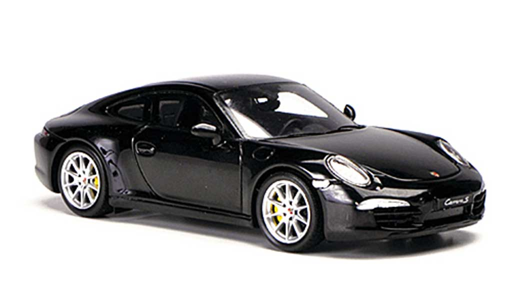 Porsche 991 S 1/43 Spark Carrera black 2012 diecast model cars