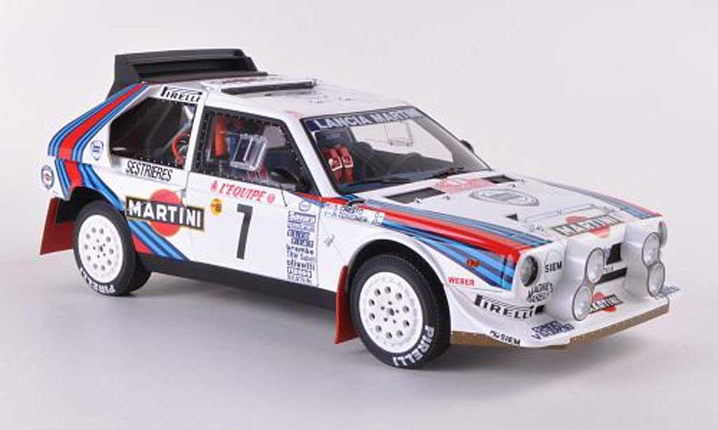 Lancia Delta S4 1/18 Autoart No.7 Martini Rally Monte Carlo 1986 miniature