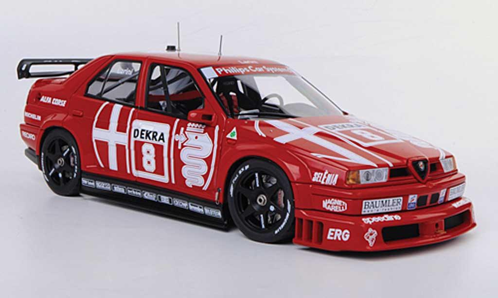 Alfa Romeo 155 1/18 Autoart V6 TI No.8 Alfa Corse N.Larini DTM Zolder 1993 miniatura