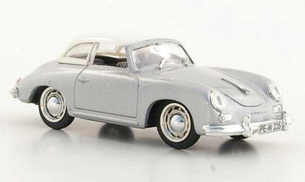 Porsche 356 1952 1/43 Brumm Hardtop blanche/grise miniature