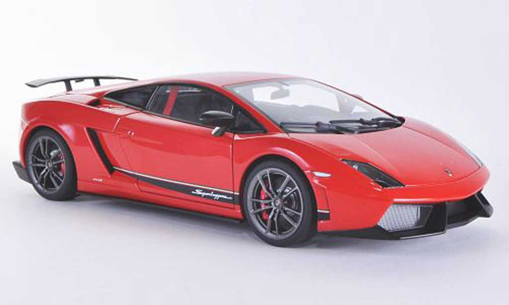Lamborghini Gallardo LP570-4 1/18 Autoart Superleggera rouge miniature