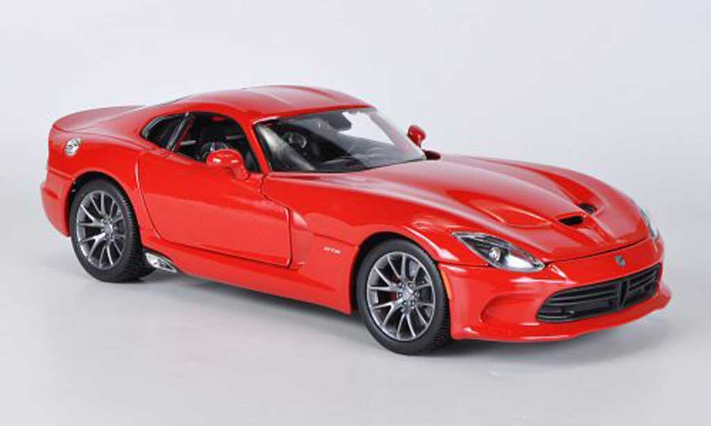 Dodge Viper SRT GTS 1/18 Maisto rouge 2013 miniature