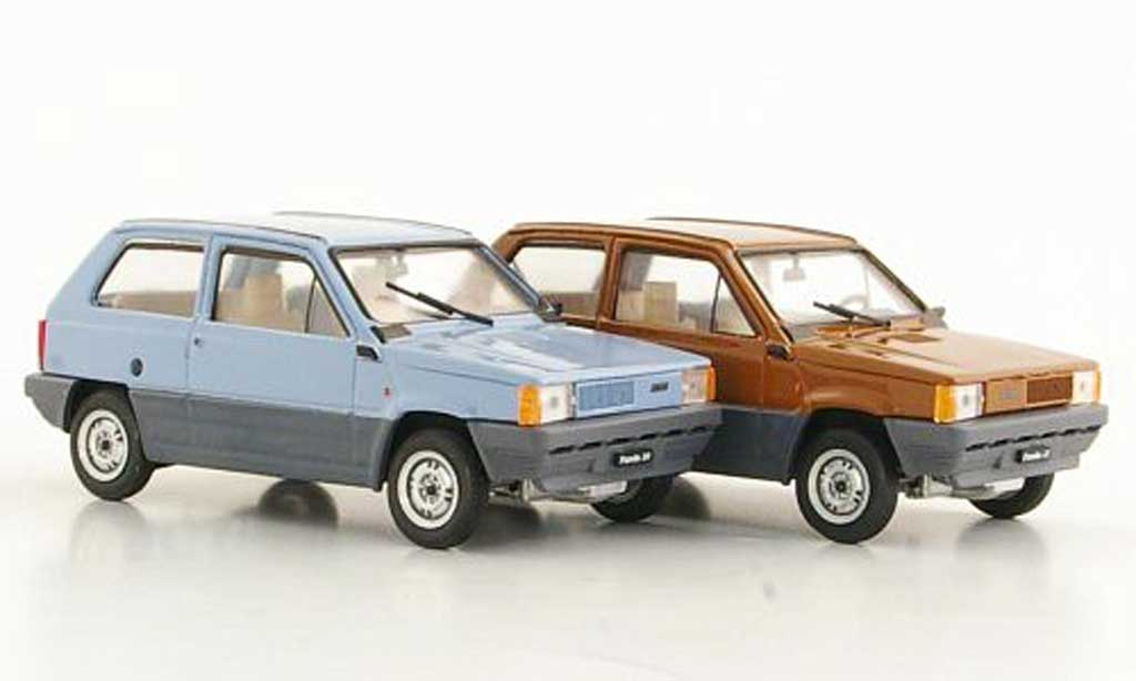 Fiat Panda 1/43 Brumm 2er-Set: 30 bleu und 45 marron 1980 miniature