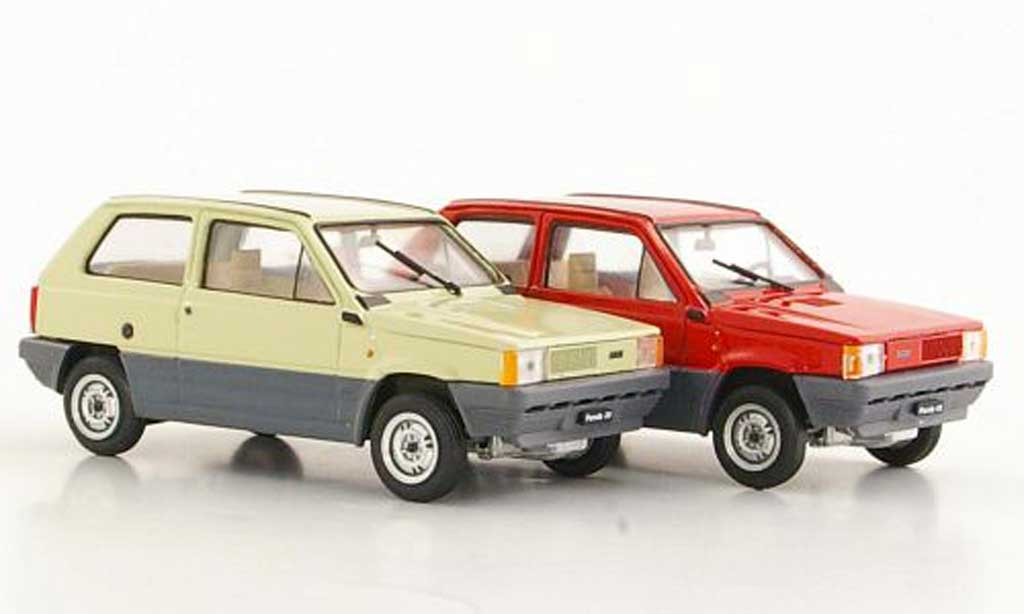 fiat panda miniature 2er set 30 beige und 45 rouge 1980 brumm 1 43 voiture. Black Bedroom Furniture Sets. Home Design Ideas