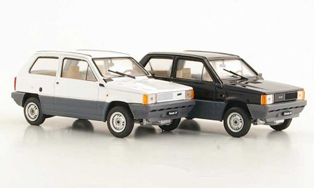 fiat panda miniature 2er set 30 blanche und 45 noire 1980 brumm 1 43 voiture. Black Bedroom Furniture Sets. Home Design Ideas