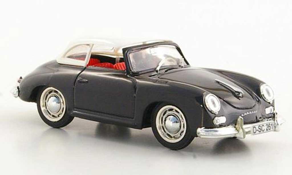 Porsche 356 1952 1/43 Brumm Hardtop noire/blanche miniature