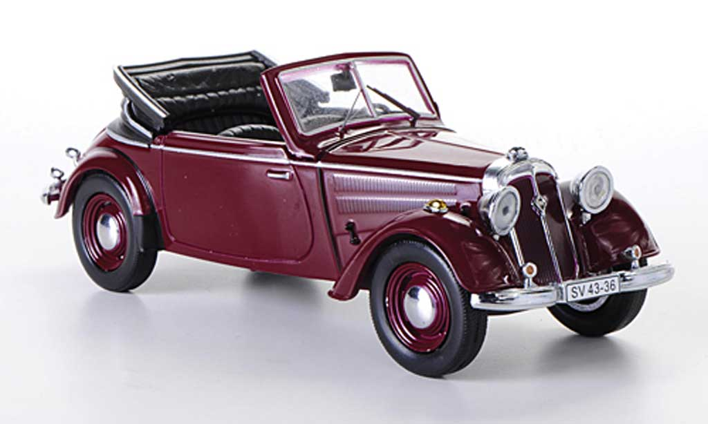 IFA F8 1/43 IST Models Cabriolet rouge 1955 miniature