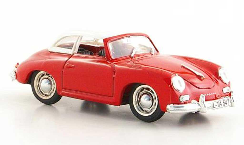 Porsche 356 1952 1/43 Brumm Hardtop rouge/blanche miniature