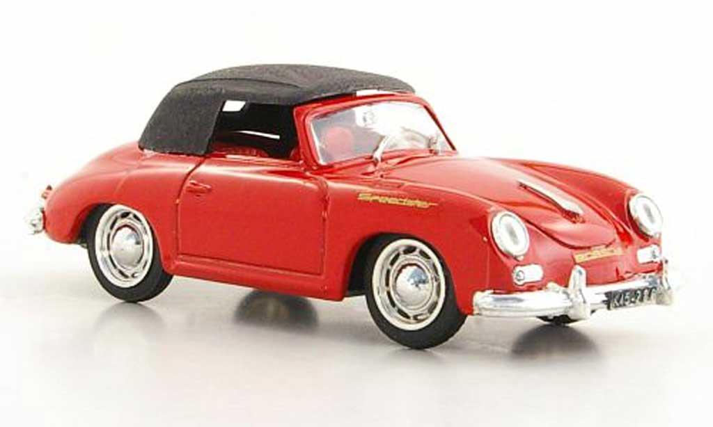 Porsche 356 1950 1/43 Brumm Speedster rouge geschlossenes Verdeck miniature