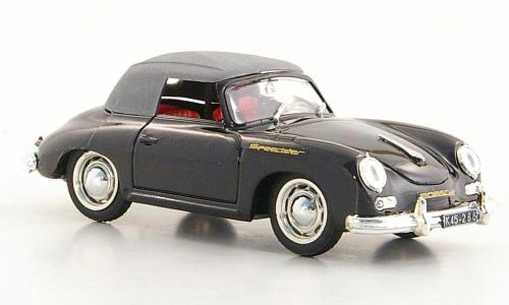 Porsche 356 1950 1/43 Brumm Speedster noire geschlossenes Verdeck