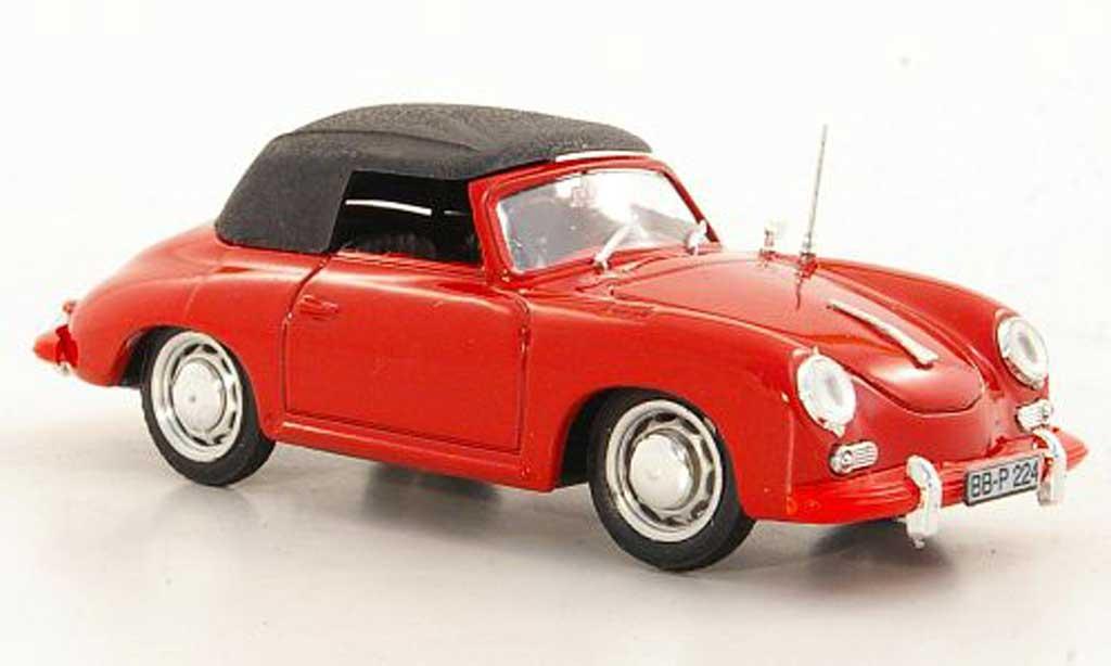 Porsche 356 1963 1/43 Brumm C Cabriolet rouge miniature