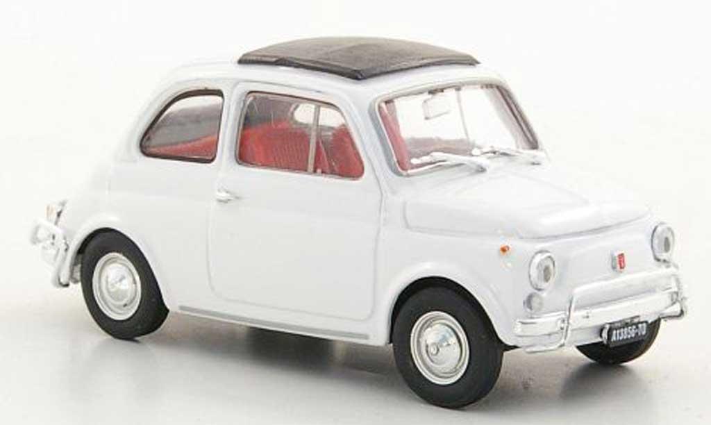 Fiat 500 L 1/43 Brumm blanche 1968 miniature