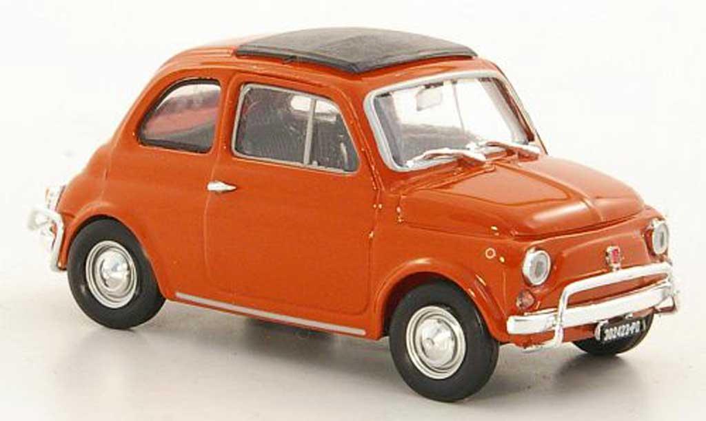 Fiat 500 L 1/43 Brumm orange 1968 miniature