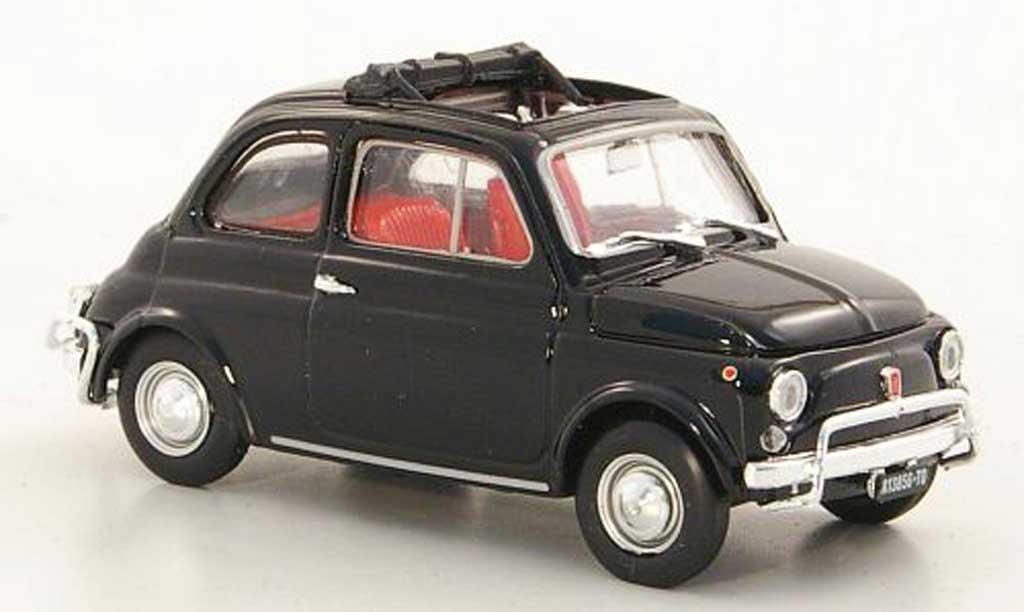 Fiat 500 L 1/43 Brumm noire 1968 miniature