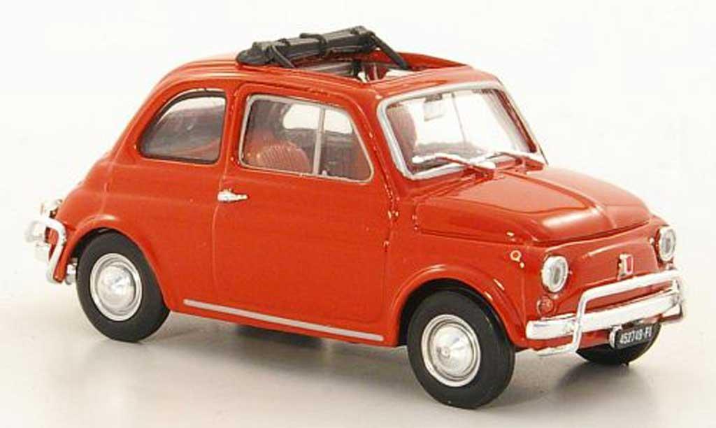 Fiat 500 L 1/43 Brumm rouge 1968 miniature
