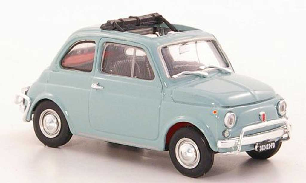 Fiat 500 L 1/43 Brumm grisebleu 1968 miniature