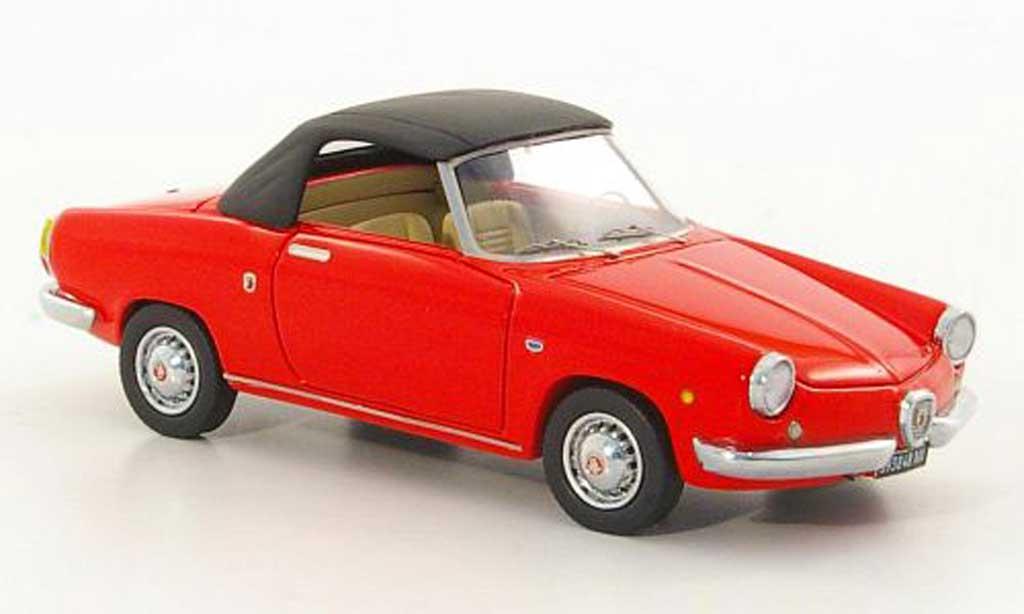 Abarth 850 Spyder 1/43 Lux B Riviera rouge/noire 1959 miniature