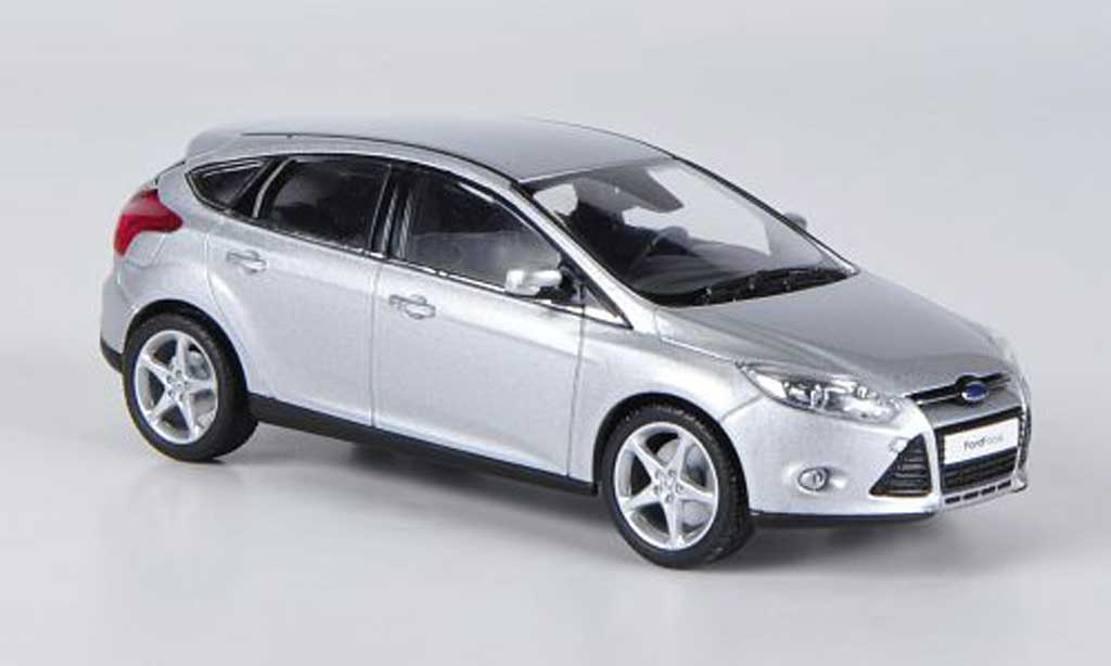 Ford Focus 1/43 Minichamps MK III grise 2011 miniature