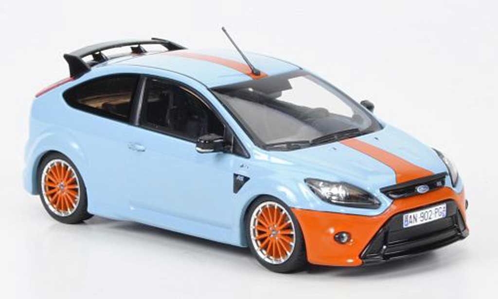 Ford Focus RS Le Mans 1/43 Minichamps Edition bleu (GT 40 Design 1968) Sondermodell MCW 2010 miniature