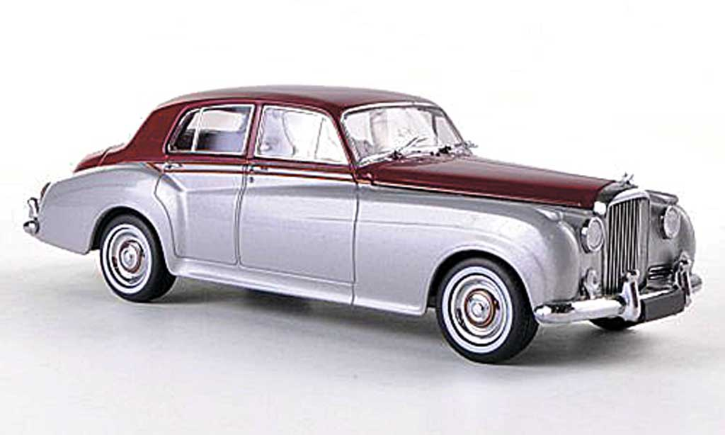 Bentley Continental S2 1/43 Minichamps Standard Saloon grise/rouge RHD Sondermodell MCW  1960 miniature