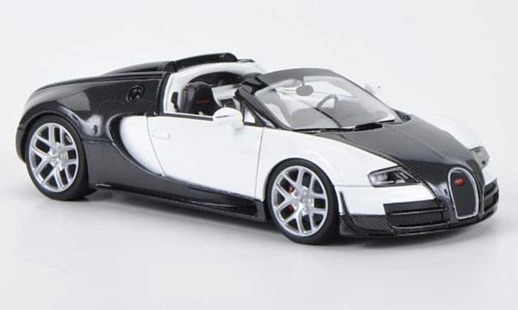 Bugatti Veyron 16.4 1/43 Look Smart Vitesse carbon/blanche Autosalon Genf 2012 miniature