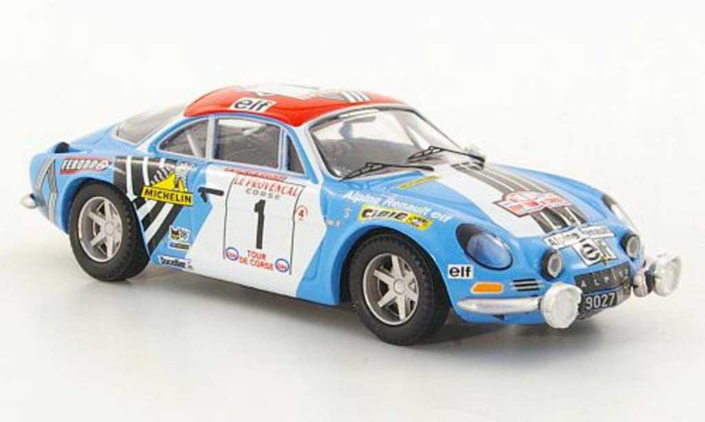 Alpine A110 1/43 Trofeu 1800S No.1 J.P.Nicolas / M.Vial Tour de Corse 1973 diecast model cars