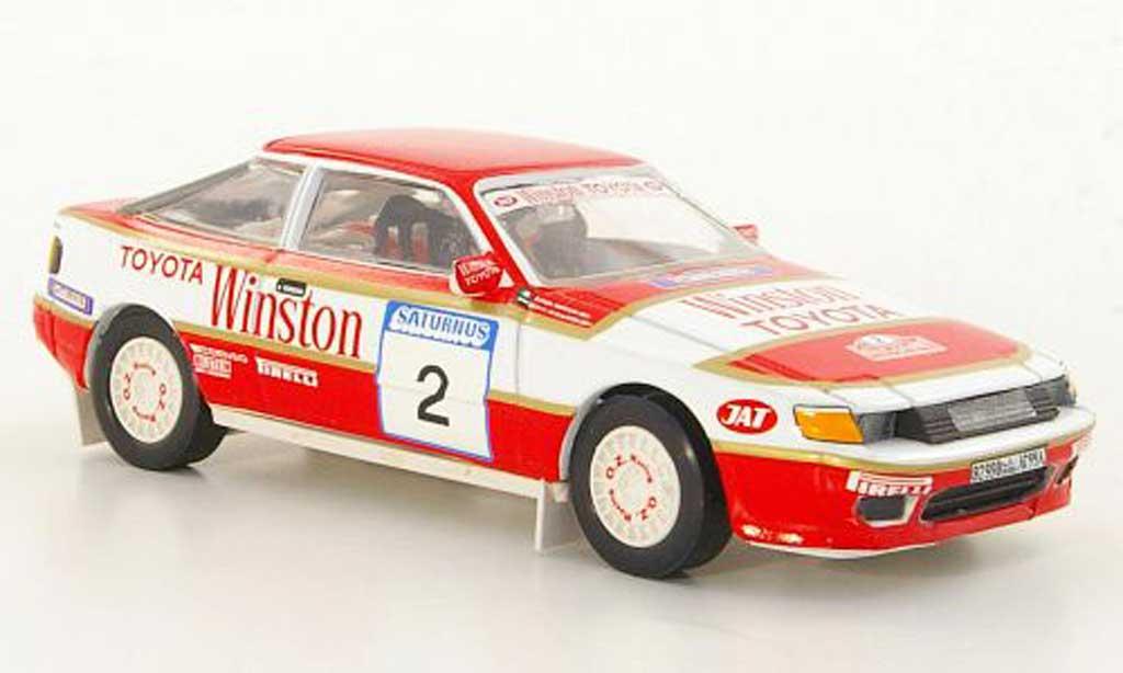 Toyota Celica GT4 1/43 Trofeu No.2 R.Morgan / M.bin Sulayem Rally Saturnus 1991 miniature