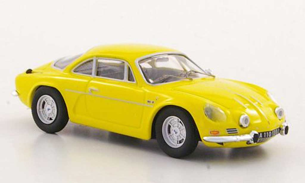Alpine A110 1/43 Trofeu 1300 S jaune Strassenversion miniature