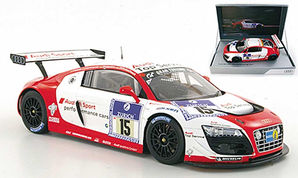 Audi R8 LMS 1/18 Spark No.15 Sport Haase / Hennerici / Stippler / Winkelhock ADAC 24h Nurburgring 2011 miniature