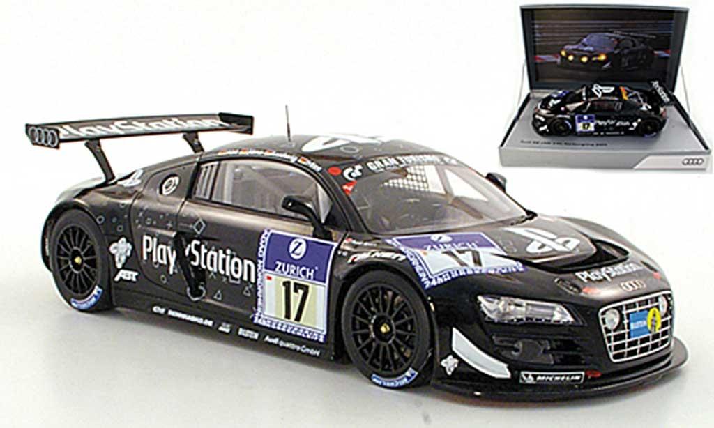 Audi R8 LMS 1/18 Spark No.17 PlayStation Abt / Jons / Ludwig / MiesADAC 24h Nurburgring 2011 miniature