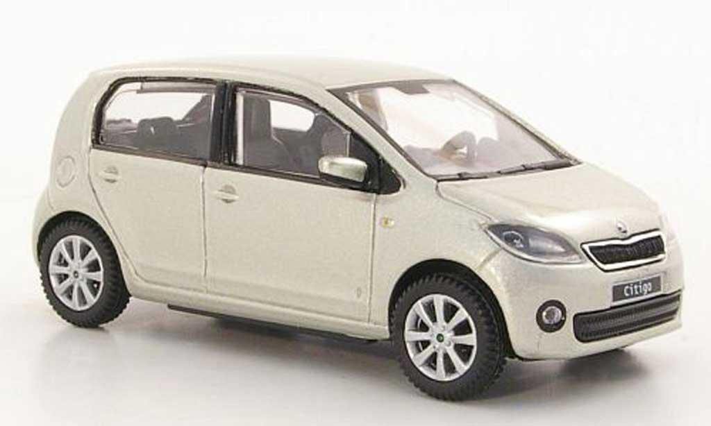skoda citigo miniature grise beige 5 portes 2012 abrex 1 43 voiture. Black Bedroom Furniture Sets. Home Design Ideas