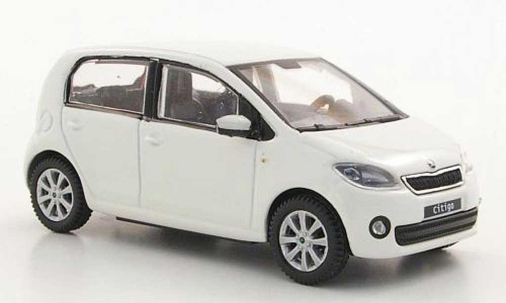 skoda citigo miniature blanche 5 portes 2012 abrex 1 43 voiture. Black Bedroom Furniture Sets. Home Design Ideas