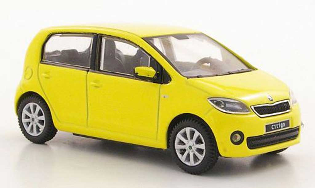 skoda citigo miniature jaune 5 portes 2012 abrex 1 43 voiture. Black Bedroom Furniture Sets. Home Design Ideas