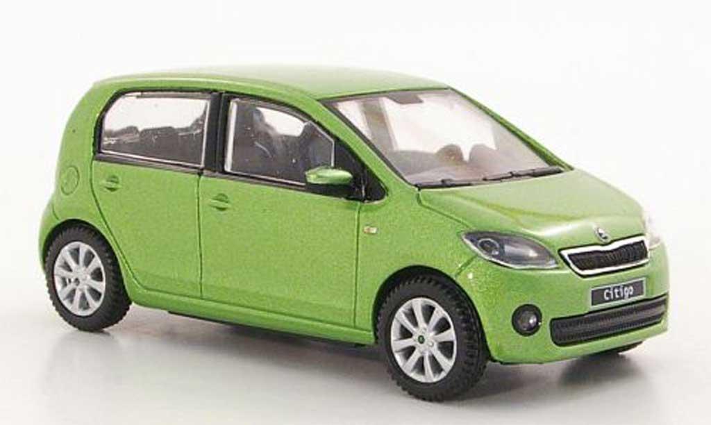 skoda citigo miniature verte 5 portes 2012 abrex 1 43 voiture. Black Bedroom Furniture Sets. Home Design Ideas